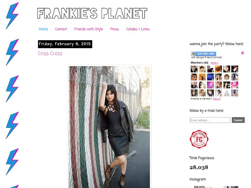 Frankie's Planet - Website Screenshot