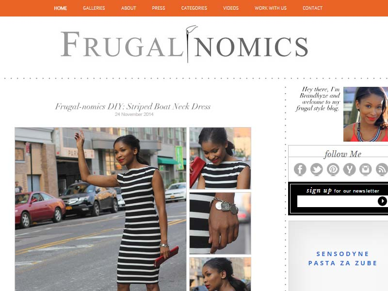 Frugal Nomics - Website Screenshot