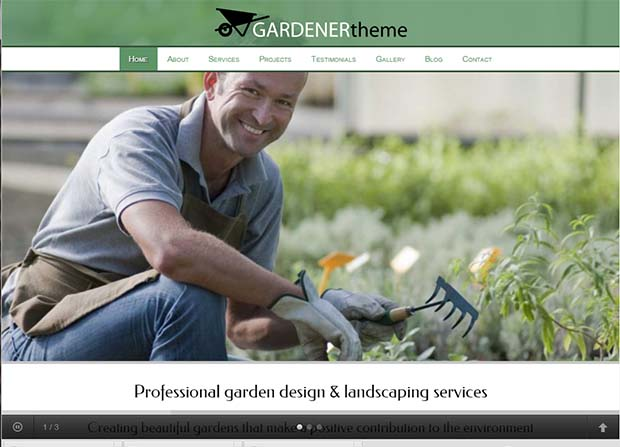 Gardener Theme Screenshot