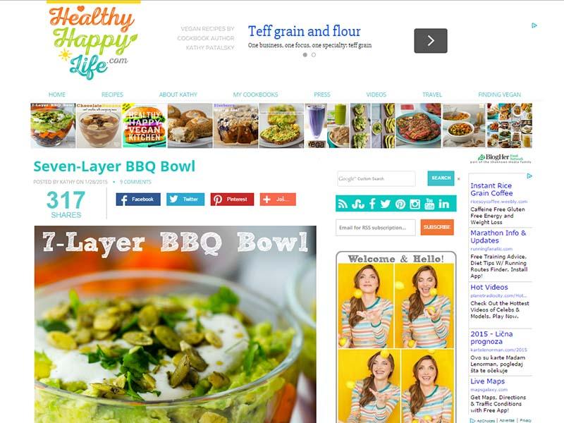 Healthy Happy Life Website Screenshot