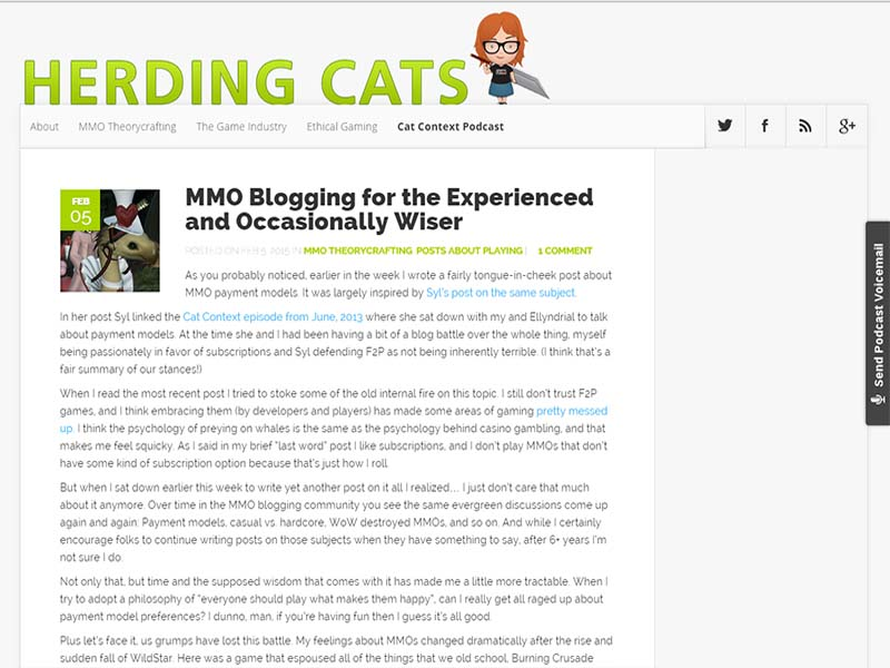 Herding Cats Website Screenshot