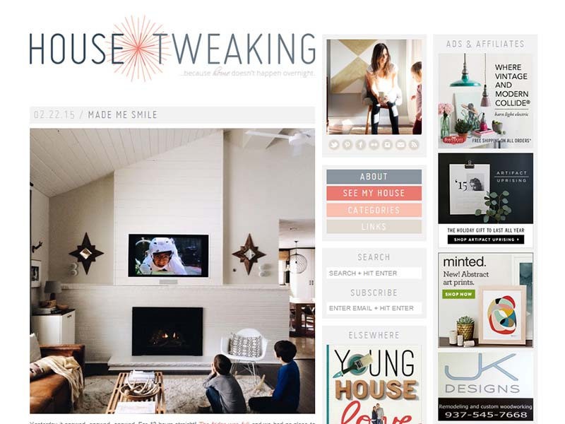 House Tweaking - Website Screenshot