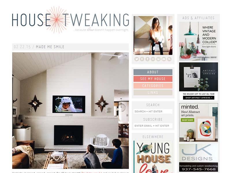 House Tweaking - Website Screenshot