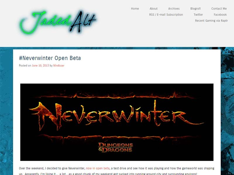 Jaded Alt Website Screenshot