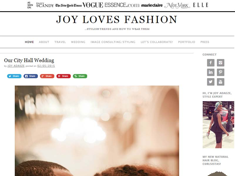 Joy Loves Fashion - Website Screenshot