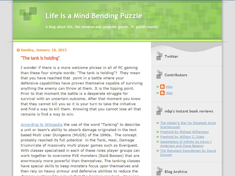 Life is a Mind-Bending Puzzle Website Screenshot