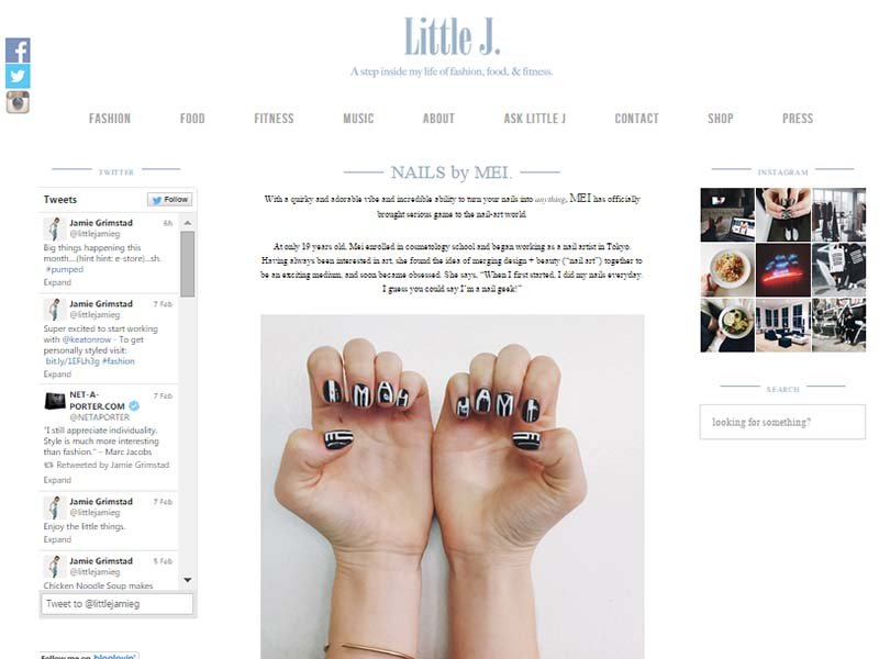 Little J. - Website Screenshot