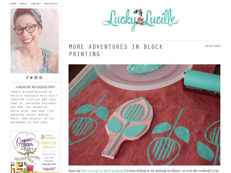Lucky Lucille - Website Screenshot