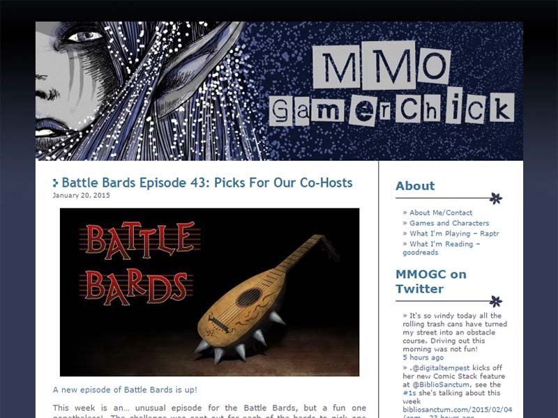 MMOGC Website Screenshot