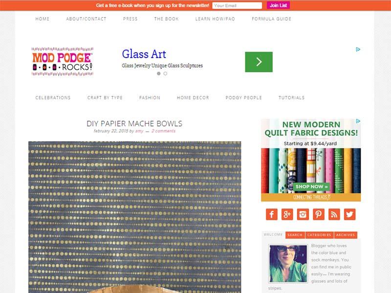Mod Podge Rocks - Website Screenshot