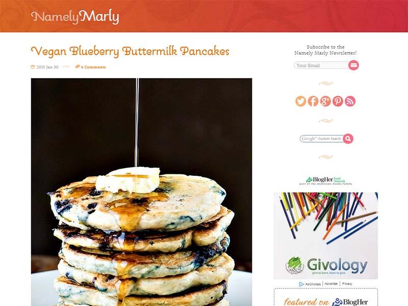 Namely Marley Website Screenshot
