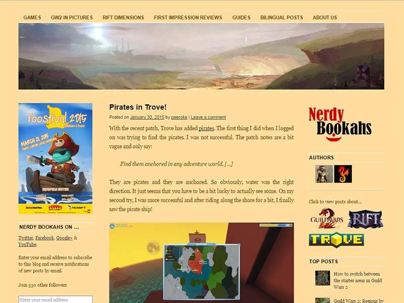 Nerdy Bookahs Website Screenshot