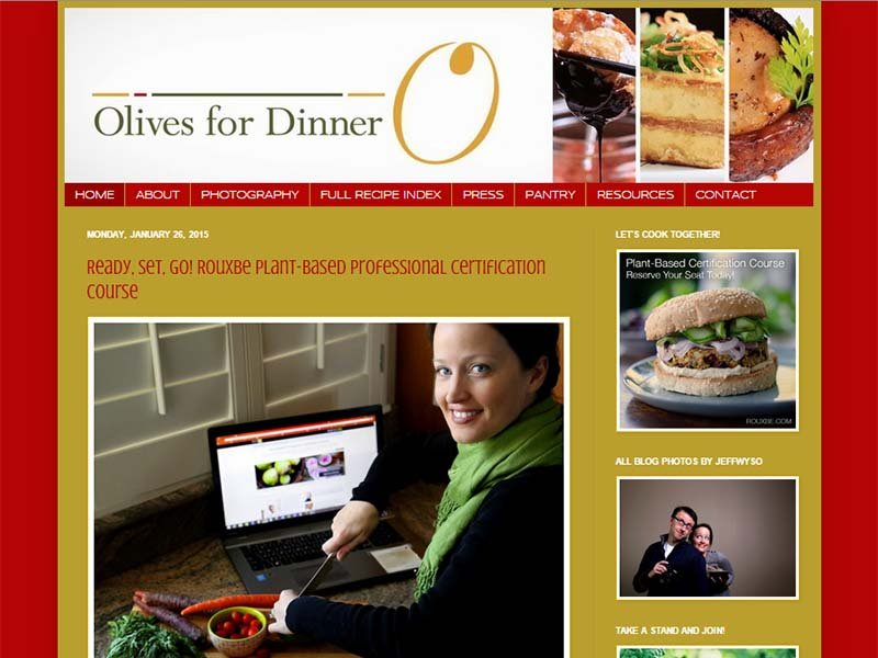 Olives For Dinner Website Screenshot