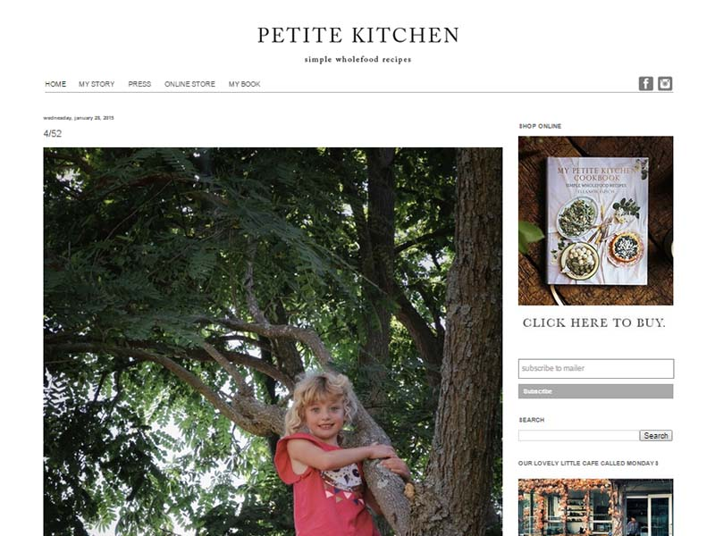 Petite Kitchen Website Screenshot