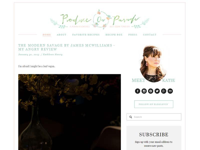 Produce On Parade Website Screenshot