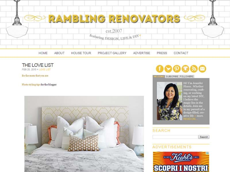 Rambling Renovators - Website Screenshot