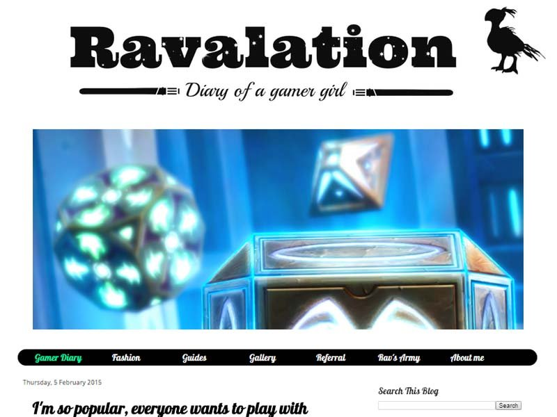 Ravalation Website Screenshot
