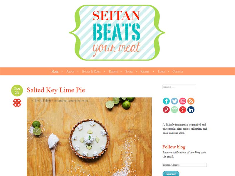 Seitan Beats Your Meat Website Screenshot