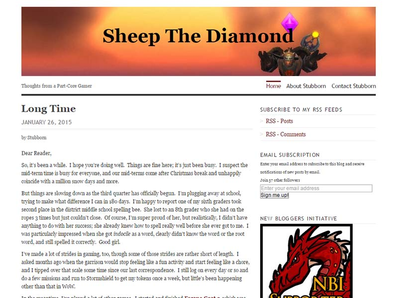 Sheep the Diamond Website Screenshot