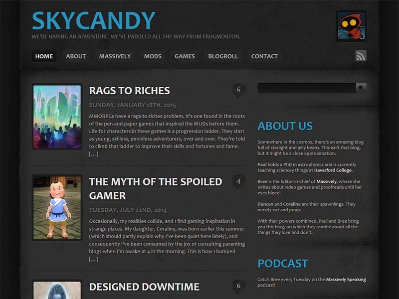 Skycandy Website Screenshot