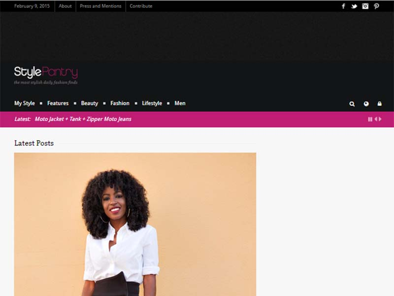 Style Pantry - Website Screenshot