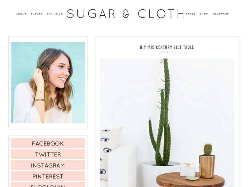 Sugar & Cloth - Website Screenshot