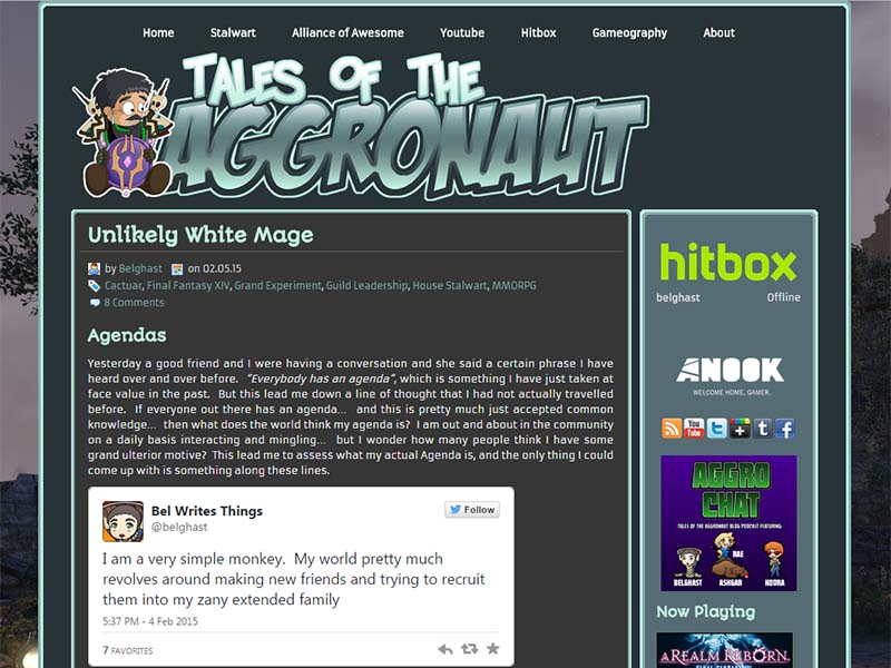 Tales of the Aggronaut Website Screenshot