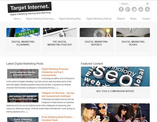 Target Internet - Website Screenshot