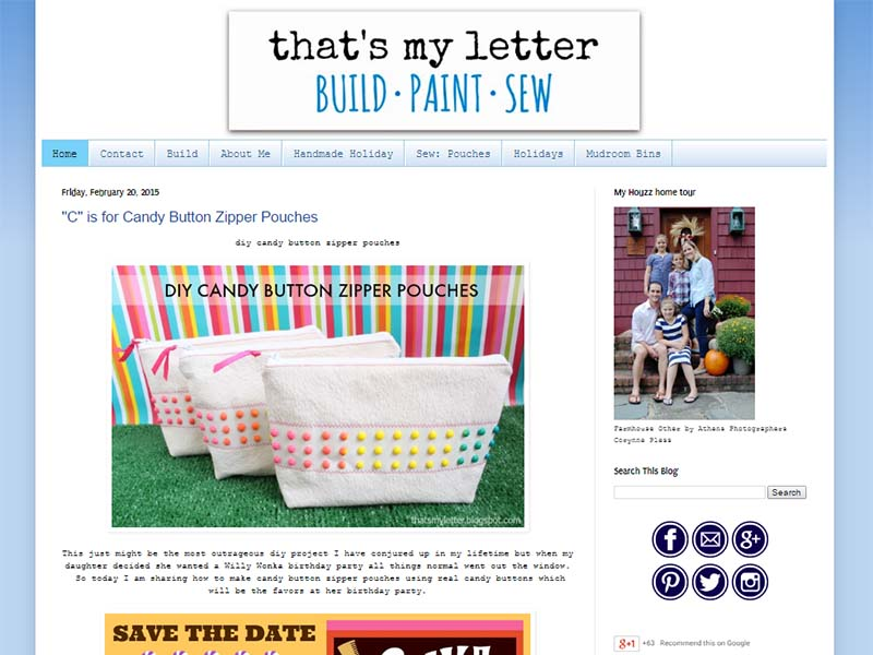 That's My Letter - Website Screenshot