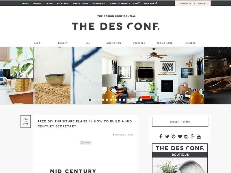 The Design Confidential - Website Screenshot
