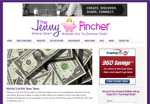 The Jenny Pincher Interview - Website Screenshot