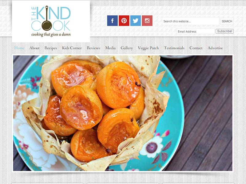 The Kind Cook Website Screenshot