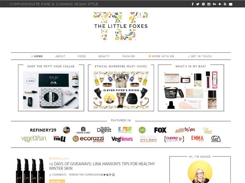 The Little Foxes Website Screenshot