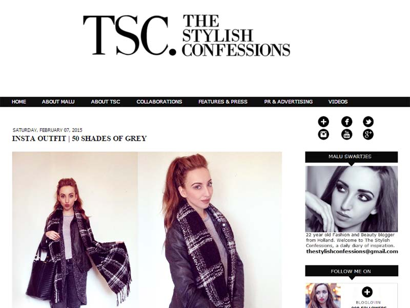 The Stylish Confessions - Website Screenshot