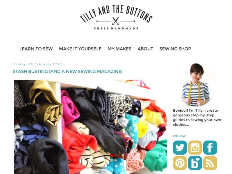 Tilly and the Buttons - Website Screenshot