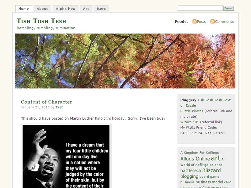 Tish Tosh Tesh Website Screenshot