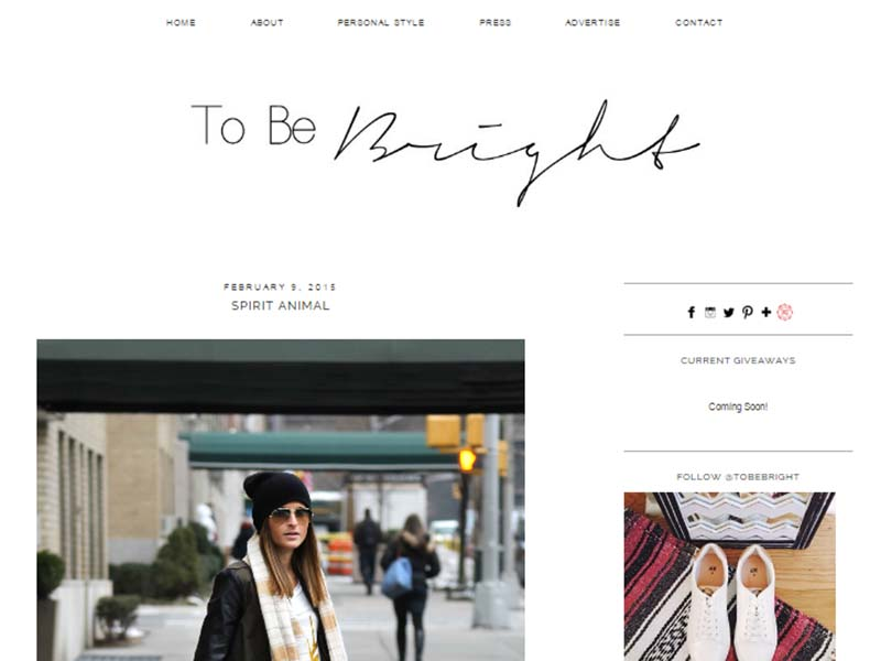 To Be Bright - Website Screenshot