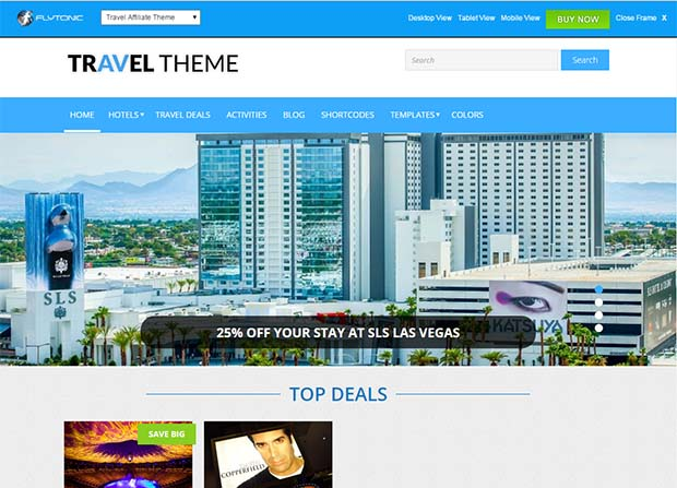 Travel Affiliate Theme Screenshot