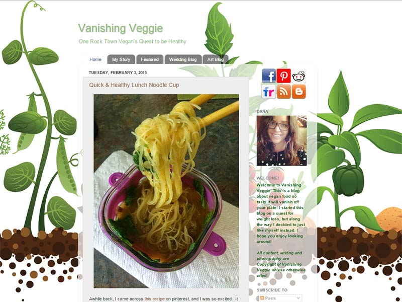Vanishing Veggie Website Screenshot