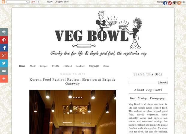 Veg Bowl - Website Screenshot