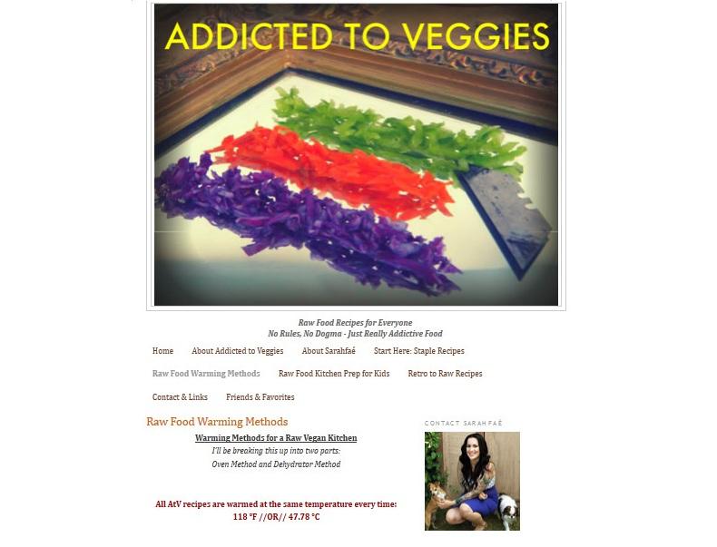 Addicted To Veggies Website Screenshot