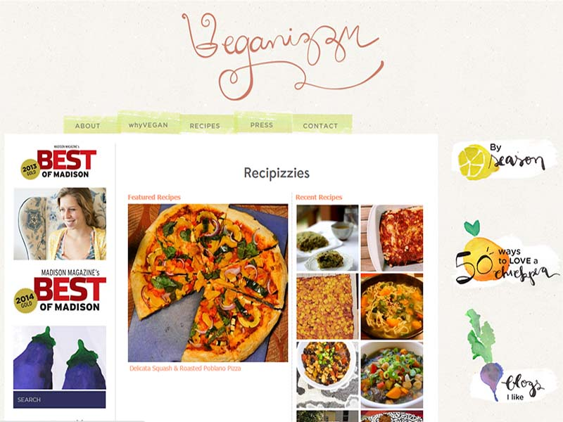 Veganizzm Website Screenshot