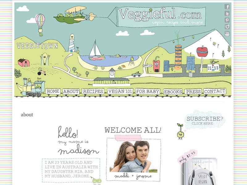 Veggieful Website Screenshot