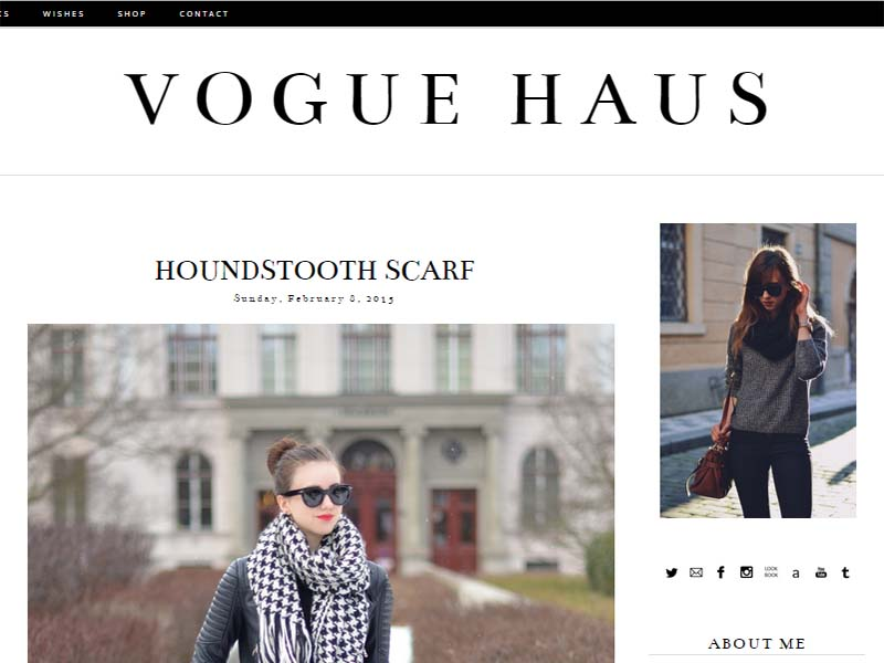 Vogue Haus - Website Screenshot