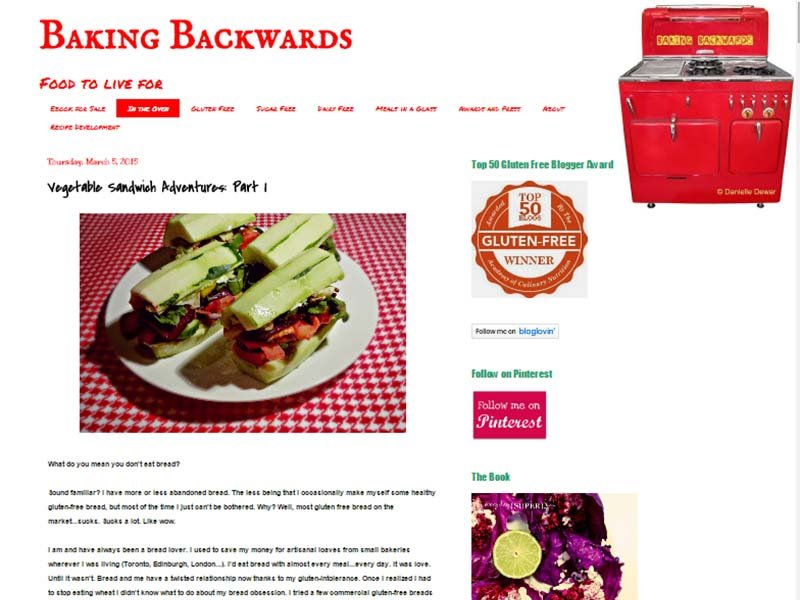 Baking Backwards Website Screenshot