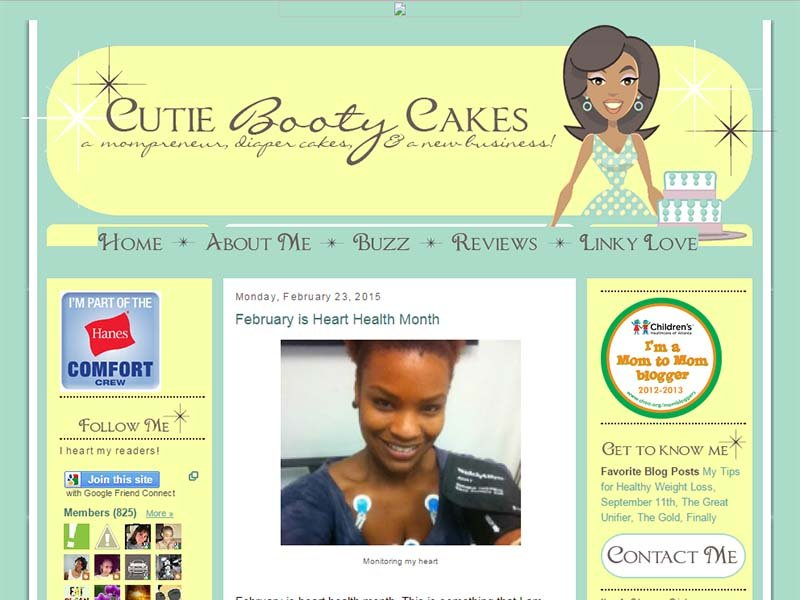 Cutie Booty Cakes - Website Screenshot