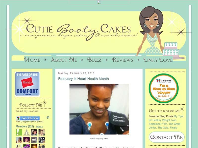 Cutie Booty Cakes - Website Screenshot