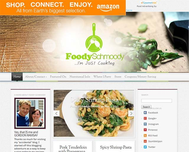 Foody Schmoody - Website Screenshot