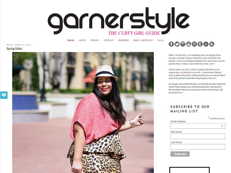 Garner Style - Website Screenshot