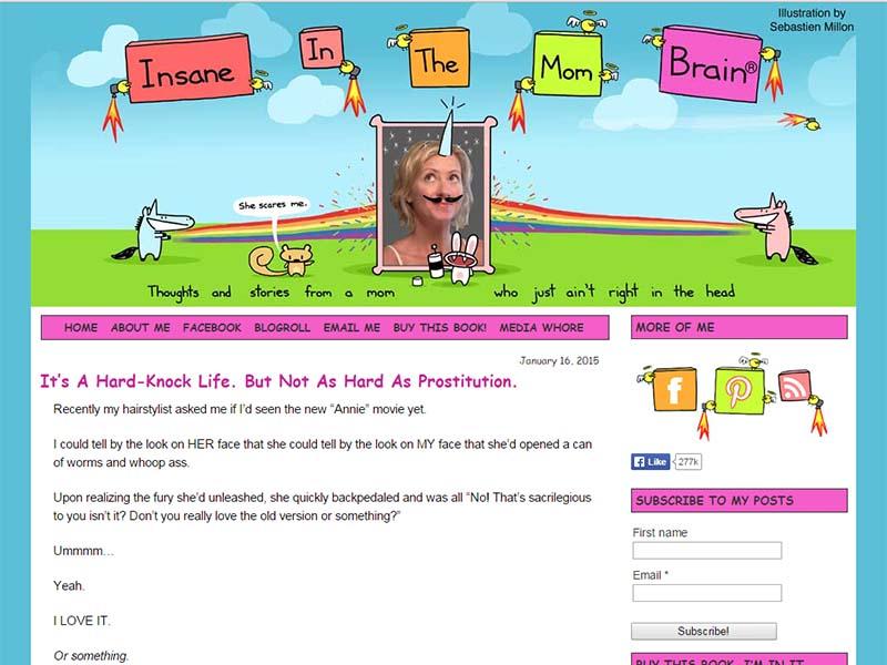 Insane In The Mom-Brain - Website Screenshot